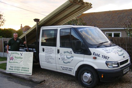 Garden Restoration Services branded van